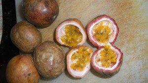 Red passion fruits