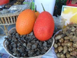 Gac fruits and gac seeds